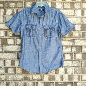 Rock and nd Republic men's small chambray shirt